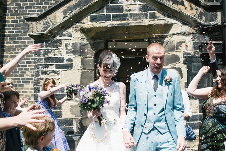 Power Blue Vintage Themed Wedding By Toast of Leeds