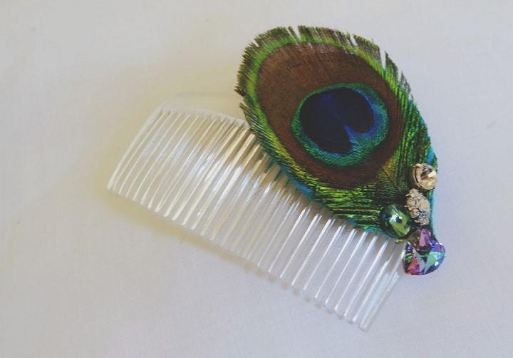 Boho Peacock Hair Comb 8