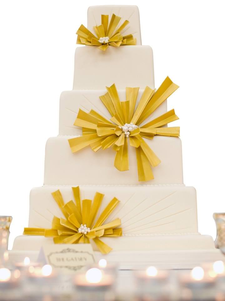 Gatsby Glamour Wedding Cake - www.gccouture.co.uk - Price_on_application