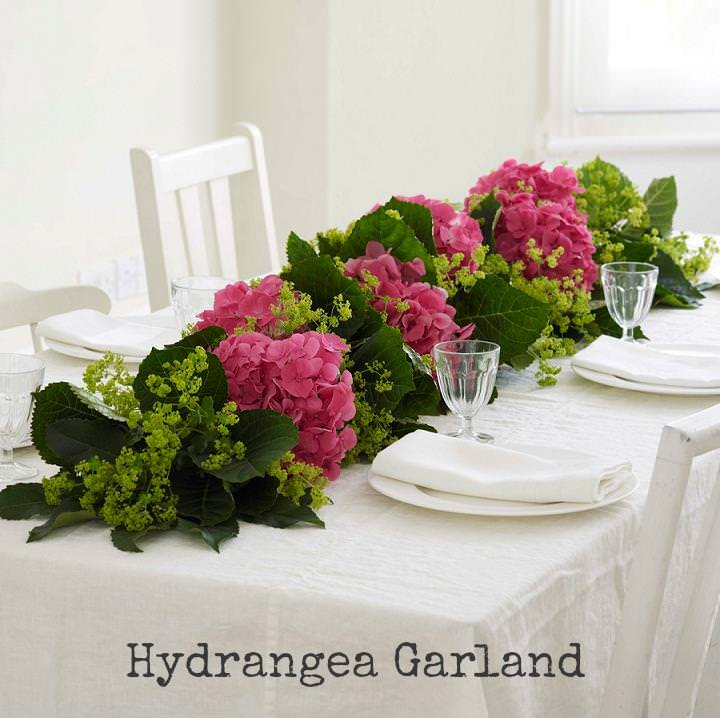 DIY Tutorial Hydrangea Garland Boho Weddings For The