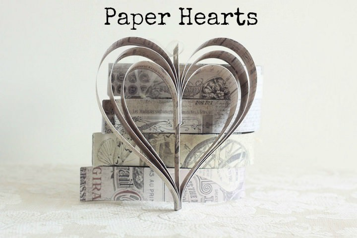 DIY Tutorial: Paper Hearts