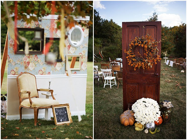 3 Backyard Wedding With a Touch of Autumn Vintage Elegance