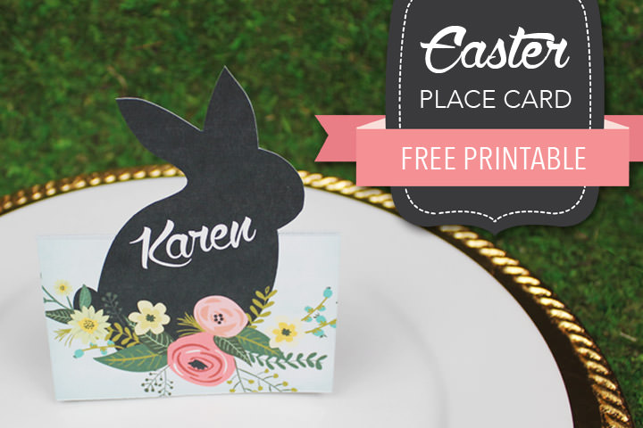 Diy Tutorial: Free Printable Easter Place Card | Boho Weddings For