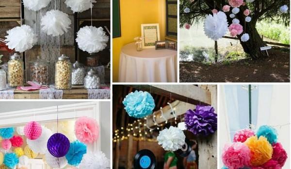 Diy tutorial tissue paper pom poms boho weddings for the boho other things you may love boho pins paper pom poms mightylinksfo