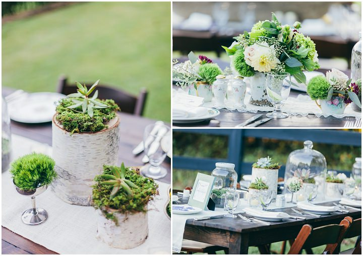 Eclectic wedding reception inspired by nature and art deco vintage view more httpharperandshanesslaurenandjasonengagements junglespirit Gallery