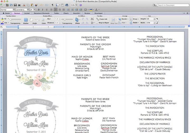 Garden Wreath Ceremony Booklet Edit In Word
