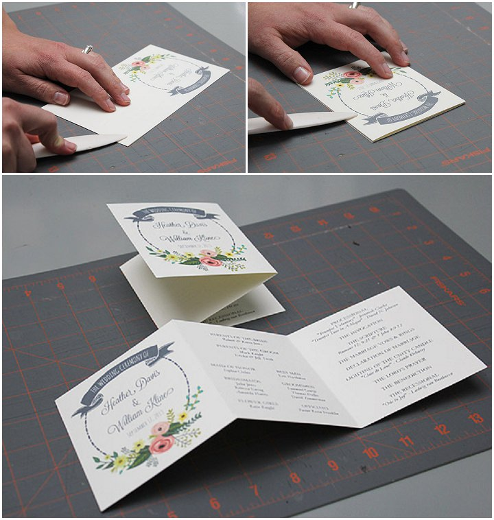 Garden Wreath Ceremony Booklet Fold Flap One