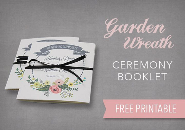 DIY Tutorial FREE Printable Ceremony Booklet Boho Weddings For - Wedding program cover templates
