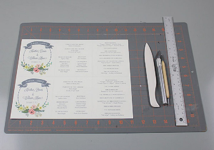 Diy Tutorial: Free Printable Ceremony Booklet | Boho Weddings For