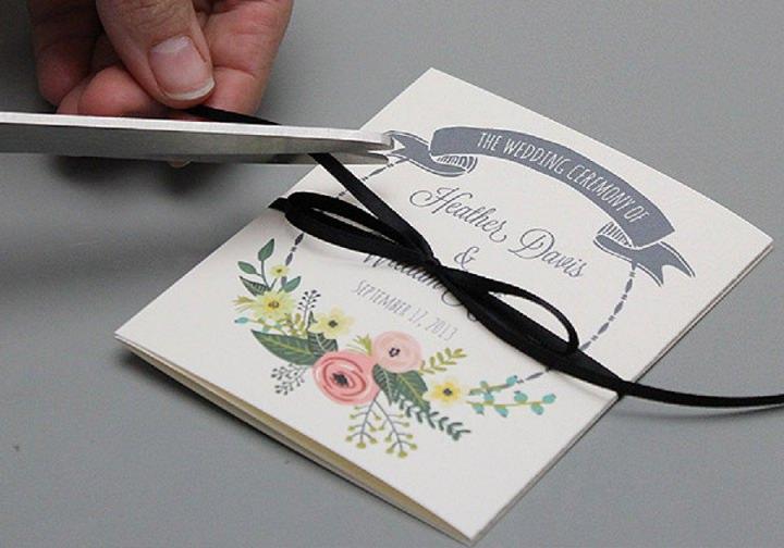 Garden Wreath Ceremony Booklet Trim Bow