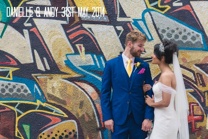 1 Danielle & Andy's Vibrant, Urban Wedding. By Murray Clarke