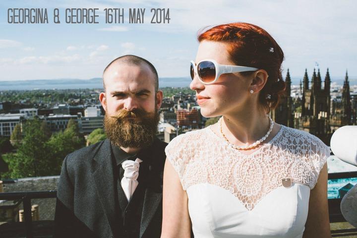 1 Georgina & George's Intimate Edinburgh Wedding. By  Fraser Stewart