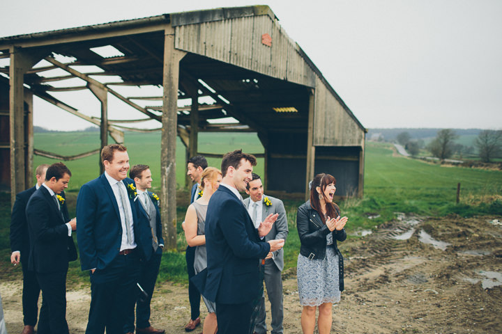 14 Daffodil Filled Wedding By Red on Blonde Photography