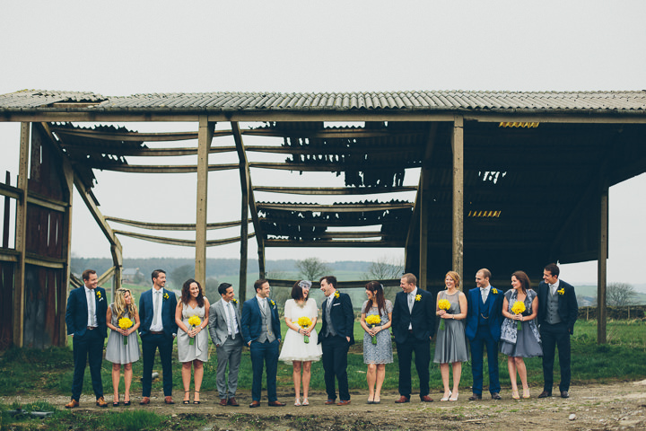 15 Daffodil Filled Wedding By Red on Blonde Photography