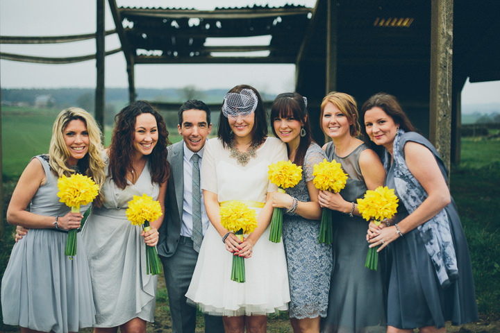 16 Daffodil Filled Wedding By Red on Blonde Photography