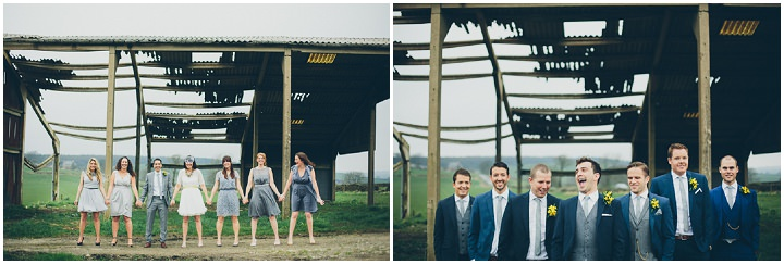 17 Daffodil Filled Wedding By Red on Blonde Photography