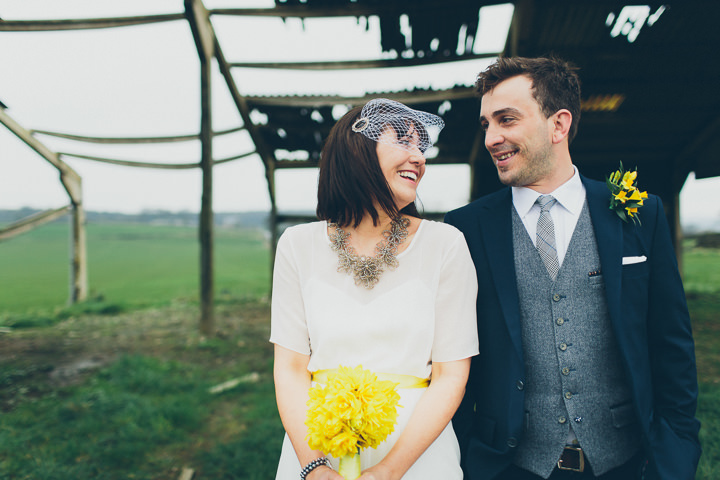 18 Daffodil Filled Wedding By Red on Blonde Photography