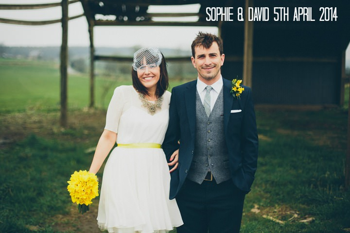 2 Daffodil Filled Wedding By Red on Blonde Photography
