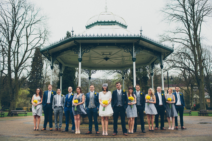 20 Daffodil Filled Wedding By Red on Blonde Photography