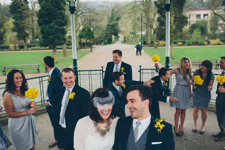21 Daffodil Filled Wedding By Red on Blonde Photography