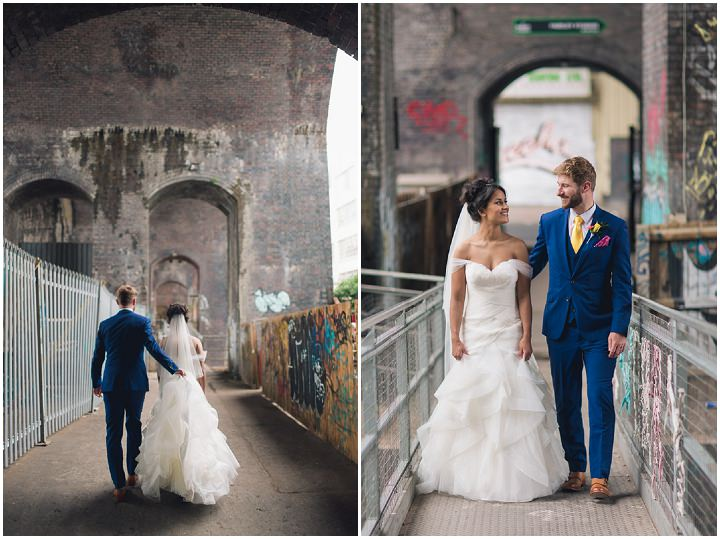 26 Danielle & Andy's Vibrant, Urban Wedding. By Murray Clarke