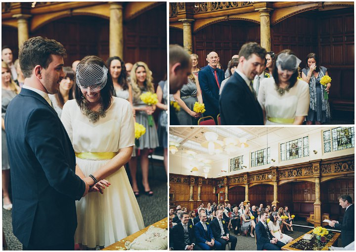27 Daffodil Filled Wedding By Red on Blonde Photography
