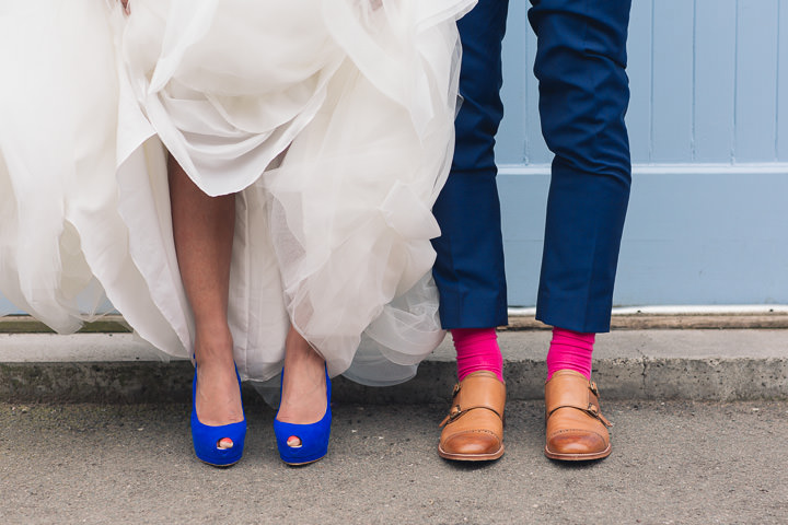 3 Danielle & Andy's Vibrant, Urban Wedding. By Murray Clarke