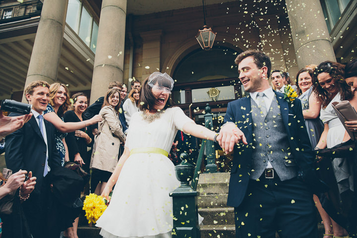 30 Daffodil Filled Wedding By Red on Blonde Photography