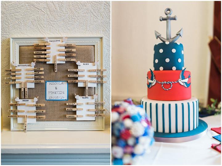 Nicola Martins 1950s Nautical Wedding By Jay Emme Boho - Wedding Cakes Wigan