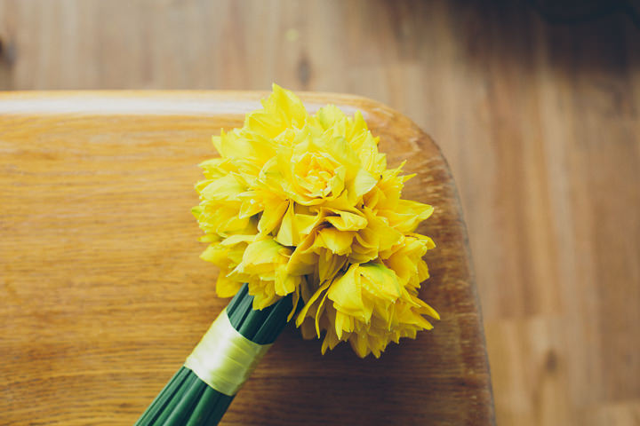 4 Daffodil Filled Wedding By Red on Blonde Photography