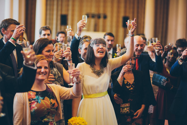 42 Daffodil Filled Wedding By Red on Blonde Photography