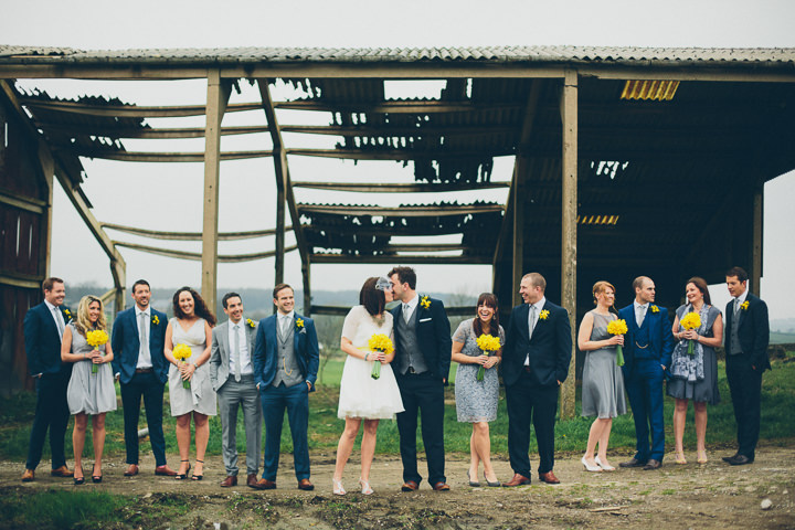5 Daffodil Filled Wedding By Red on Blonde Photography