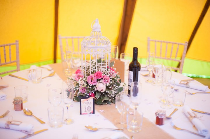 5 Nicola & Harry's Vintage Tipi Wedding. By SDS Photography