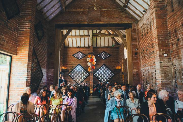 16 Laura & Greg's Peaches and Cream Barn Wedding. By Nicola Thompson