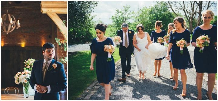 19 Laura & Greg's Peaches and Cream Barn Wedding. By Nicola Thompson