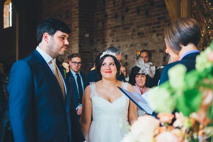 21 Laura & Greg's Peaches and Cream Barn Wedding. By Nicola Thompson