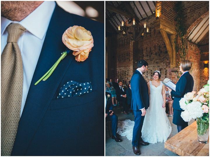 22 Laura & Greg's Peaches and Cream Barn Wedding. By Nicola Thompson