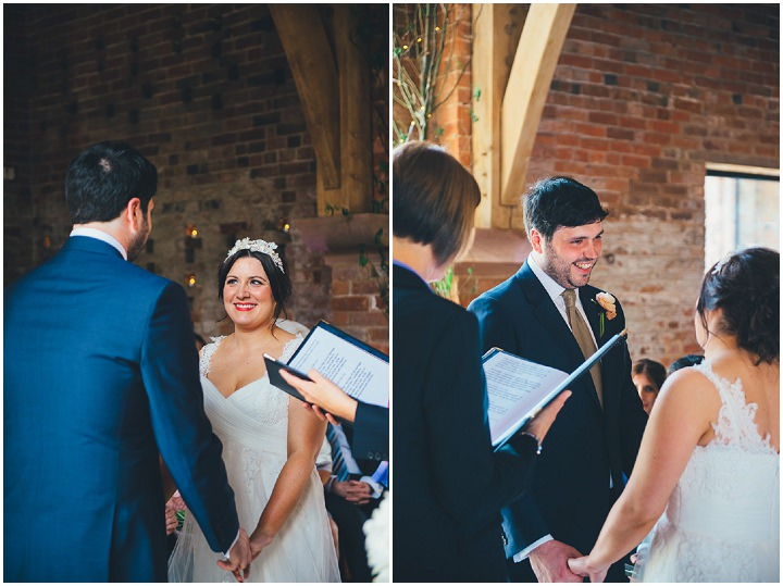 24 Laura & Greg's Peaches and Cream Barn Wedding. By Nicola Thompson