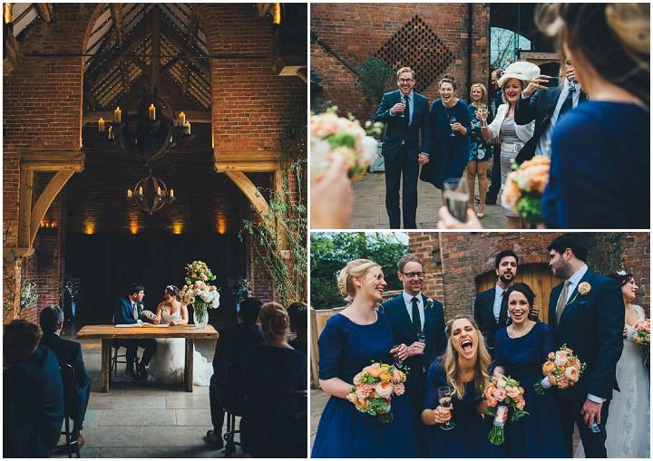 26 Laura & Greg's Peaches and Cream Barn Wedding. By Nicola Thompson