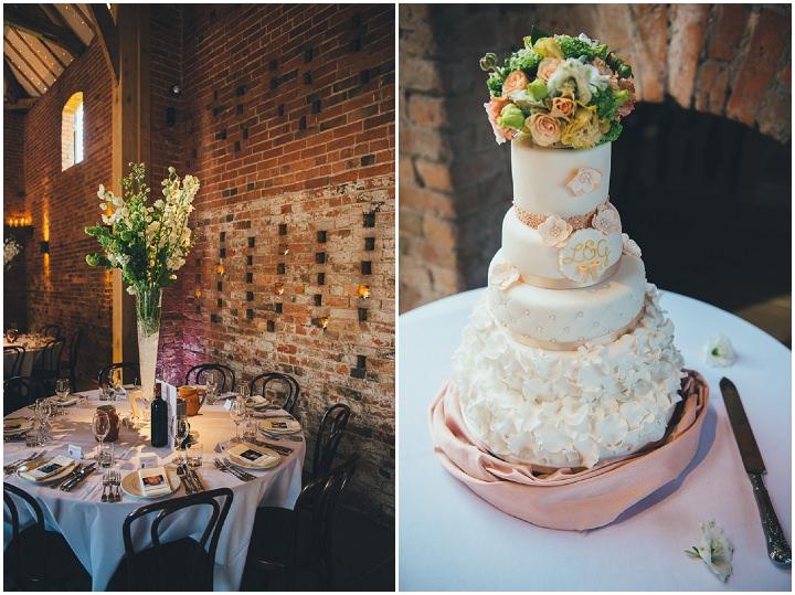 28 Laura & Greg's Peaches and Cream Barn Wedding. By Nicola Thompson