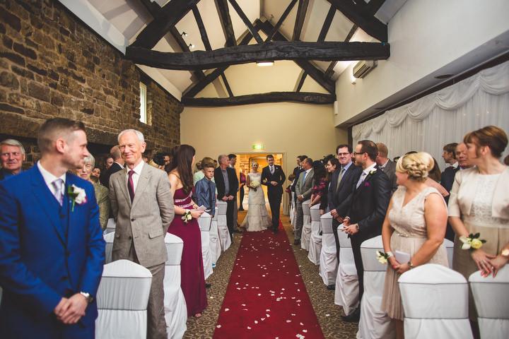 34 Fiona & John's Candlelit Sheffield Wedding. By S6 Photography