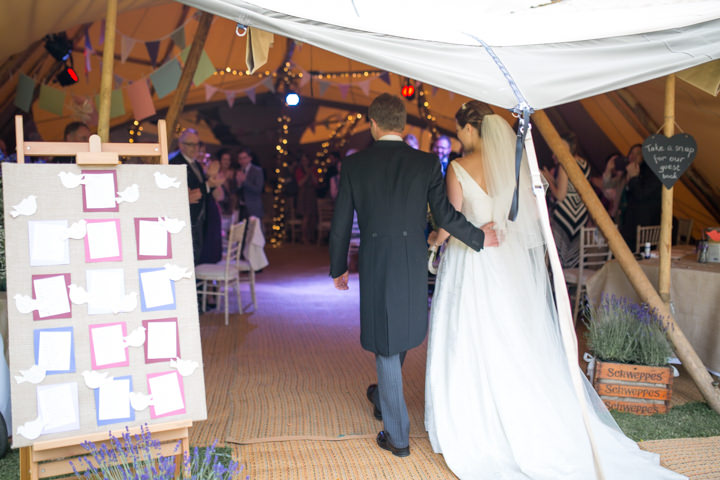 38 Frances & Iain's English Garden Tipi Wedding. By Pam Hordon
