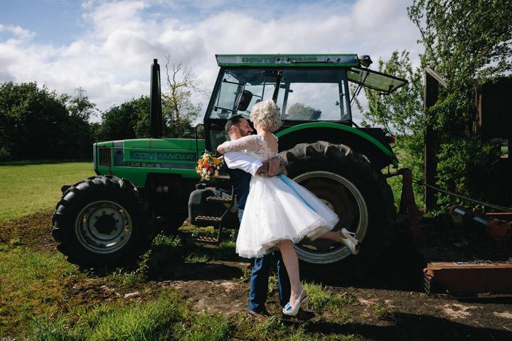 39 Beth & Tom's Rockabilly Barn Wedding. By Tino & Pip