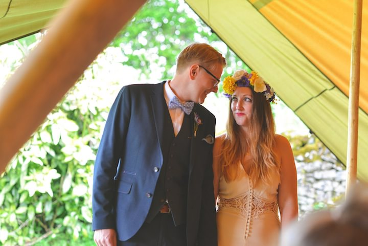 46 Carrie & Simon's Humanist Tipi Wedding. By Becky Ryan Photography