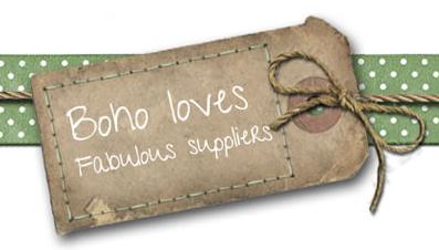 Boho Loves fabulous suppliers