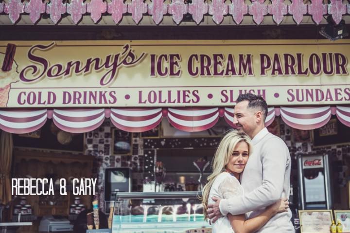 1 Rebecca & Gary's Blackpool Pre-Wedding Shoot. By Claire Penn