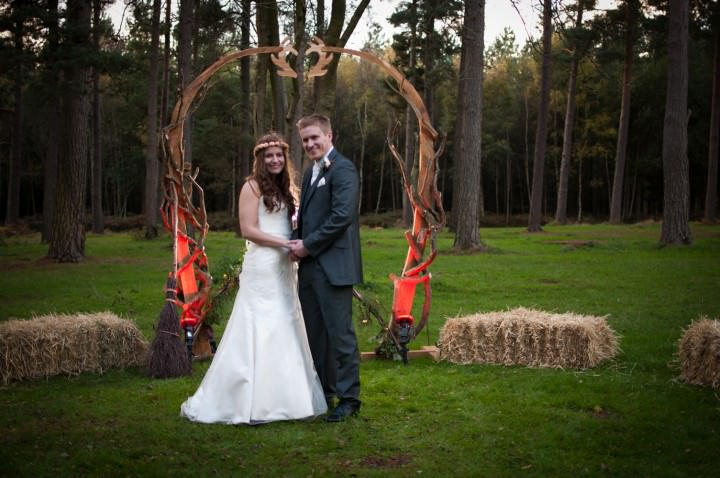 19 Emma & Daniel's Rustic Woodland Wedding. By Jay Morgan