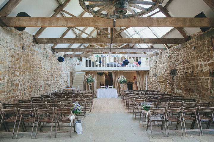 19 Katy & Steven's Navy Dorset Barn Wedding. By Helen Lisk