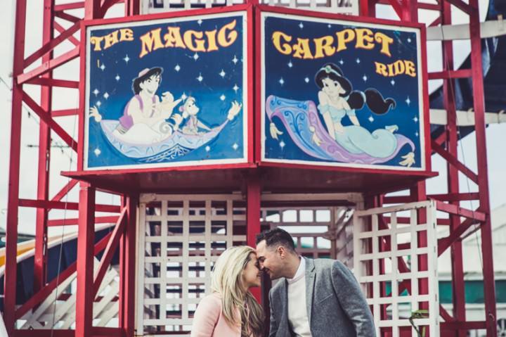 19 Rebecca & Gary's Blackpool Pre-Wedding Shoot. By Claire Penn
