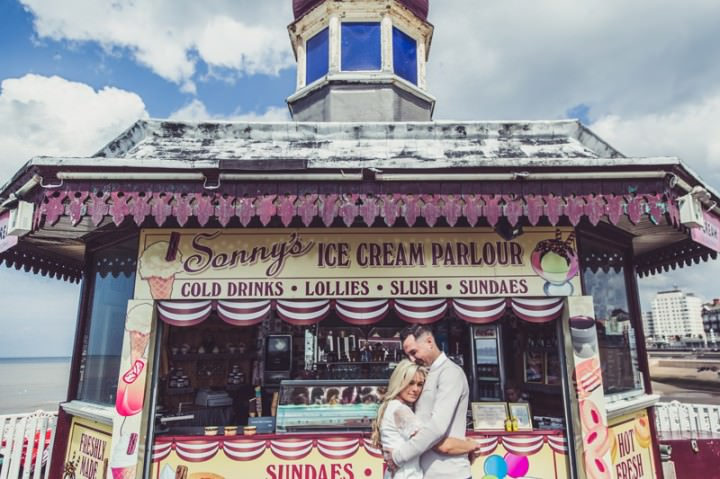 20 Rebecca & Gary's Blackpool Pre-Wedding Shoot. By Claire Penn